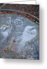 Oil Drum Angel Greeting Card by Brian Boyle