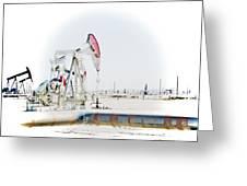 Oil Field Greeting Card