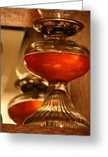Oil Lamp In Red Greeting Card