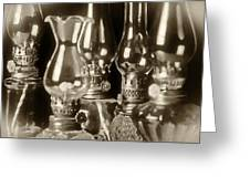 Oil Lamps Greeting Card