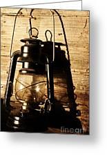 Oil Lantern Greeting Card