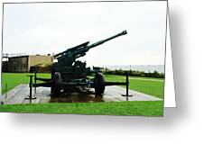 Oil Painting - Anti Aircraft Gun At Dover Castle Greeting Card