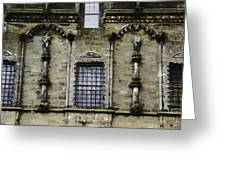 Oil Painting - Renaissance Styled Statues On Royal Palace In Stirling Castle Greeting Card