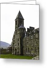 Oil Painting - Repair Of The Benedictine Abbey At Fort Augustus Now Apartments Greeting Card