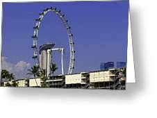 Oil Painting - Singapore Flyer And Marina Bay Sands Along With Preparation For  Greeting Card