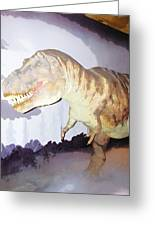 Oil Painting - Thankfully This T Rex Is A Dummy Greeting Card