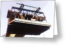 Oil Painting - Bridge As A Part Of Construction Greeting Card
