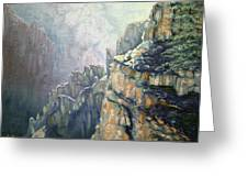 Oil Painting - Majestic Canyon Greeting Card