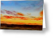 Oil Painting - When The Clouds Turn Red Greeting Card