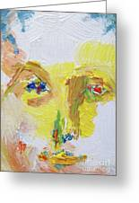 Oil Portrait Of A Man Face17 Search For Strongwater Branching On Ebay Greeting Card