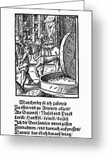 Oil Press, 1568 Greeting Card