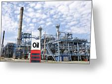 Oil Refinery And Industries Greeting Card