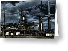 Oil Refinery Sinclair Wyoming Greeting Card