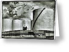 Oil Storage Tanks 1 Greeting Card