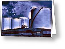 Oil Storage Tanks 2 Greeting Card