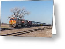 Bnsf Oil Train In Dilworth Minnesota Greeting Card