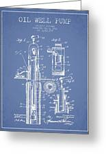 Oil Well Pump Patent From 1912 - Light Blue Greeting Card