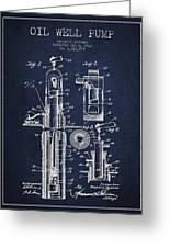 Oil Well Pump Patent From 1912 - Navy Blue Greeting Card