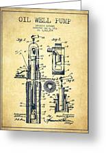 Oil Well Pump Patent From 1912 - Vintage Greeting Card