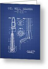 Oil Well Reamer Patent From 1924 - Blueprint Greeting Card