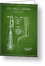 Oil Well Reamer Patent From 1924 - Green Greeting Card