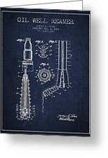 Oil Well Reamer Patent From 1924 - Navy Blue Greeting Card