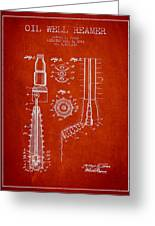 Oil Well Reamer Patent From 1924 - Red Greeting Card