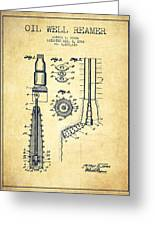 Oil Well Reamer Patent From 1924 - Vintage Greeting Card