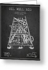 Oil Well Rig Patent From 1893 - Dark Greeting Card
