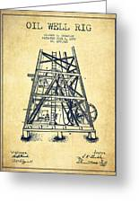 Oil Well Rig Patent From 1893 - Vintage Greeting Card