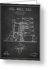 Oil Well Rig Patent From 1917- Dark Greeting Card