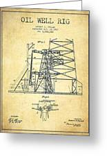 Oil Well Rig Patent From 1917- Vintage Greeting Card