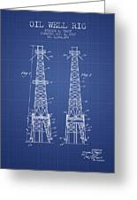 Oil Well Rig Patent From 1927 - Blueprint Greeting Card