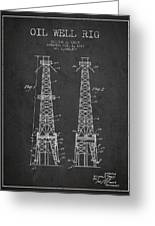 Oil Well Rig Patent From 1927 - Dark Greeting Card