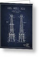 Oil Well Rig Patent From 1927 - Navy Blue Greeting Card
