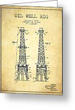 Oil Well Rig Patent From 1927 - Vintage Greeting Card