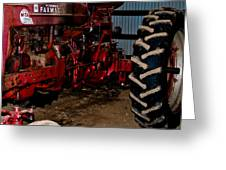 Oiled Tractor Greeting Card