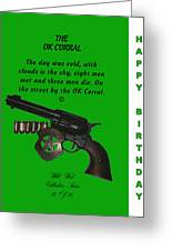 Ok Corral 10 Of 16 Happy Bithday Greeting Card