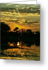 Okavango Sunset Greeting Card