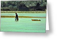 Okinawan Fisherman Greeting Card