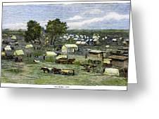 Oklahoma City, 1889 Greeting Card
