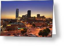 Oklahoma City Nights Greeting Card