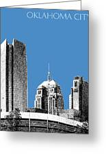 Oklahoma City Skyline - Slate Greeting Card
