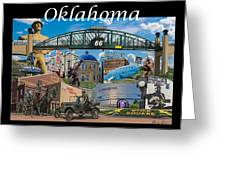 Oklahoma Collage With Words Greeting Card