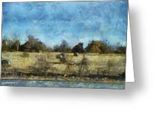 Oklahoma Hay Rolls Photo Art 02 Greeting Card