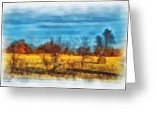 Oklahoma Hay Rolls Photo Art 03 Greeting Card