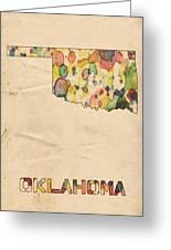 Oklahoma Map Vintage Watercolor Greeting Card
