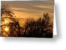 Oklahoma Sunset Greeting Card