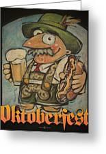 Oktoberfest Guy Poster Greeting Card