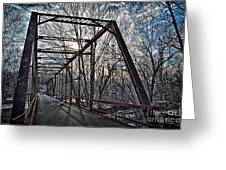 Ol' Iron Bridge Of Dark Hallow Greeting Card